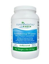 Fundamental Earth Protein Whey Protein Concentrate Unflavored 2 lb