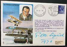 1976 TOM SOPWITH Aircraft designer signed on his own Historic Aviators FDC BFPO