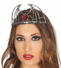Halloween Pipistrello Ali Tiara Fascinator con Vampiro Elvira Costume Accessorio Vamp