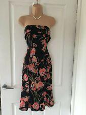 Karen Millen Black Strapless Tulip Pencil Fishtail Wiggle Dress 10