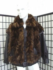BRAND NEW MEN MAN NATURAL SABLE FUR COAT JACKET W/ LEATHER SIZE 42-44-46 -$1000