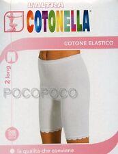 2 SLIP GAMBA LUNGA DONNA COTONE ELASTICO COTONELLA ART. 3163