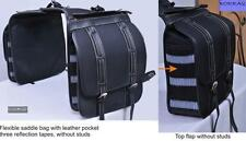 Saddle bag Borraq Saddle bag Cordura BLACK FLEXIBLE Horse saddle bag