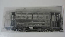 USA404 BELVIDERE CITY Railway Co - TROLLEY No4 PHOTO Illinois USA