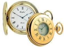 Pocket Watch Plain Gold Plated Half Hunter  Woodford  1211