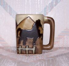 Horse Mug Mara Square Equestrian Stoneware 12 Ounces Light Handle
