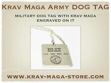 ISRAELI ARMY DOG TAG KRAV MAGA ENGRAVED ON IT, LIMITED!