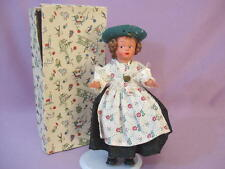 """9"""" FOREIGN COSTUME DOLL in BOX c1950"""