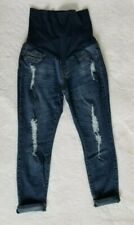 *SONG* Maternity jeans/ distressed stretch skinny in size XL Excellent condition