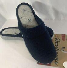 Dearfoams Slippers Women's Scuff Sz M (7-8) XL (11-12) Navy Blue Memory Foam