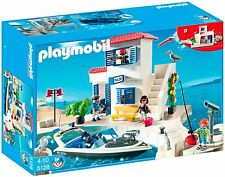 Playmobil #5128 Harbor Police Boat New sealed in box Rare hard to find Retired