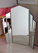 TODOS LOS cristal reflectante Art Deco Tocador De Pie Maquillaje Gatsby ESPEJO