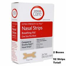 Safeway (LESS $-Breathe Right) Nasal Strips Extra Strength-52 Count Tan-USA Made