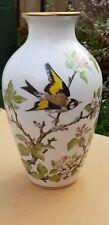 1981 Vintage FRANKLIN PORCELAIN The Woodland Bird Vase Limited Edition