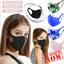 Breathable Mask Washable Black Reusable Face Mouth Protection UK