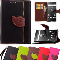 For Sony Xperia Z5 Compact mini Case Leather Wallet Flip Stand Card Pocket Cover