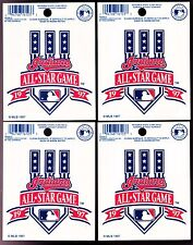 RARE 1997 INDIANS MLB ALL-STAR GAME LOGO REUSABLE CLING WINDOW DECALS - NEW