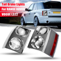 2x Rear Tail Brake Lights Lamps Cluster Clear For RANGE ROVER VOGUE L322 02-09