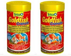 2X TETRA GOLDFISH GRANULES 2X 80G COMPLETE FISH TANK FOOD