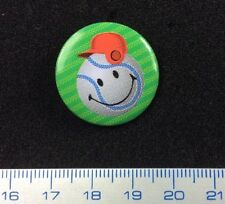 Pin Badge Button Baseball Smileyworld Lovely Humoristic Design. Metal