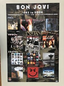 BON JOVI,ALBUMS COLLECTION,AUTHENTIC LICENSED 2009  POSTER