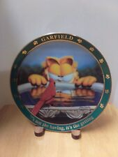 """A Day With Garfield """"It's not the having, it's the getting"""" Collectible Plate"""