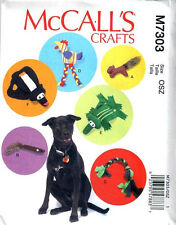 McCall's Pattern 7303 PET TOYS stuffed toys braided pull toys dog toys to make