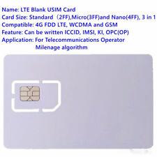 SIM USIM Card 4G LTE WCDMA GSM Blank Mini Nano micro writable
