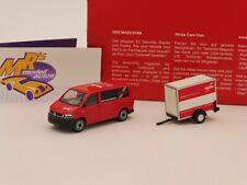 """Herpa 094290 # VW T6 Bus mit Kofferanhänger von VK-Modelle """" Herpa """" 1:87"""