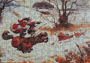 """TWO PG WOODEN JIGSAW PUZZLES. """"TIGER,TIGER"""" & """"HOT PURSUIT"""""""