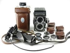 F&h Rolleiflex 3,5 f 6x6 TLR Twin lens reflex Carl planar 1:3,5 f = 75mm + bolsa