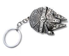 SALE! Chunky Star Wars Millennium Falcon Keychain Keyring Chrome Steel Silver