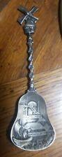 Exceptional Antique Souvenir Spoon Dutch Holland 800 Silver Windmill Hallmark
