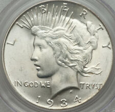 1934-D Peace Dollar PCGS MS65 L@@K Satin and Frosty