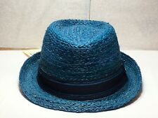 156db510bef1c New withTag Men s Stetson STS14 Odenton Genuine Raffia Teal Brim 1 7 8
