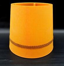 Vintage Retro Lamp Shade Hard Plastic .Bright Yellow/orange