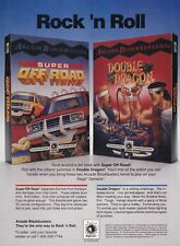 Original 1992 Nintendo NES DOUBLE DRAGON Super Off Road video game print ad page