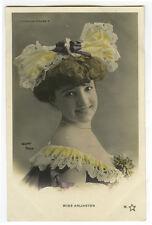 c 1904 MOULIN ROGUE Beauty Mlle ARLINGTON Cabaret Undivided back photo postcard