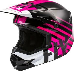 Fly Racing Kinetic Thrive Helmet (Youth Small, Pink/Black/White)