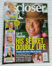 CLOSER MAGAZINE OCTOBER 12 2015 LARRY HAGMAN BURT REYNOLDS DICK VAN DYKE