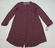 new MERONA #DR104 Women's Size S Casual Geometric Purple Long Sleeve Shift Dress