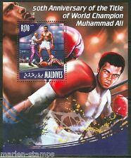 MALDIVES  2014 50th ANNIVERSARY OF MUHAMMAD ALI  AS WORLD CHAMP S/S  MINT NH