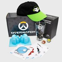 CultureFly NEW Overwatch Collectors Gift Box -Hat,Pint Glass,Vinyl Decals & More