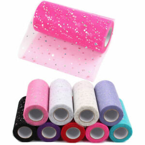 Sparkly Sequins Tutu Tulle Dress Roll Net Mesh Craft Fabric Wedding Party Decor