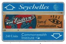 SEYCHELLES - 240 Unit COMMONWEALTH INSTITUTE & 100 YEARS C. & W, Phone Card 1993