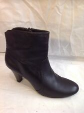 F&F Black Ankle Leather Boots Size 7
