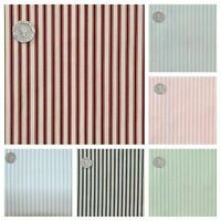 Stripe Fabric Ticking Style Print 100% Cotton.