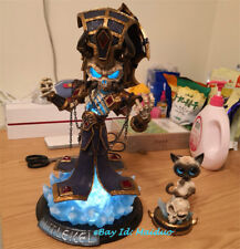 World of Warcraft Kel'Thuzad Figurine Lich King Statue Lighting WOW Resin Model