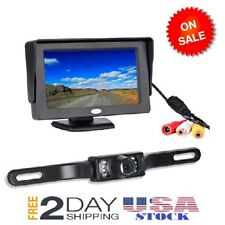 Backup Camera and Monitor Kit Chuanganzhuo License Plate CMOS Wide Angle Back 7