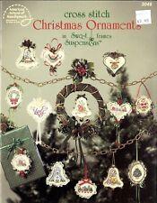 Cross 00003955  Stitch Christmas Ornaments 3046 in Frames Cross Stitch Pattern Leaflet